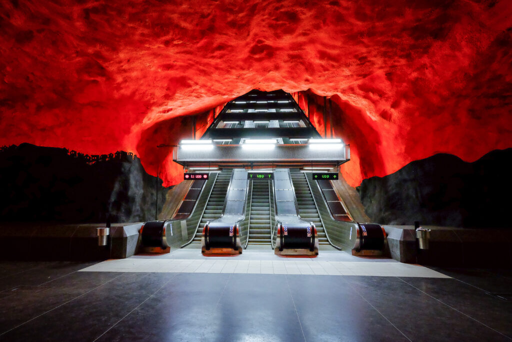 Station métro Centrum, Stockholm, Suède, Scandinavie
