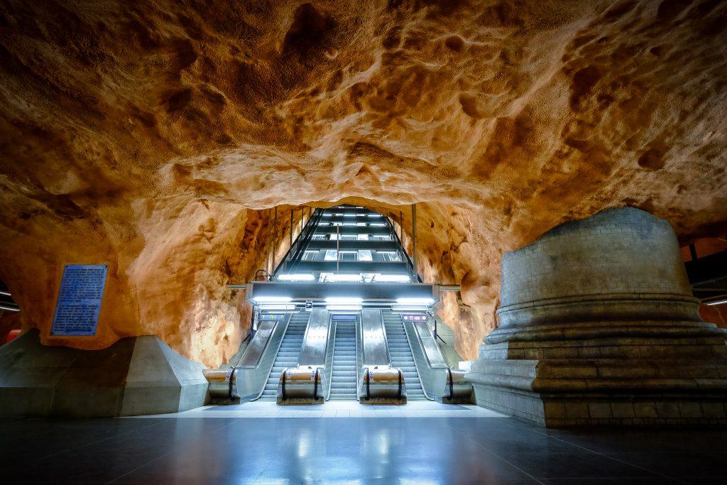 Station métro Radhuset, Stockholm, Suède, Scandinavie