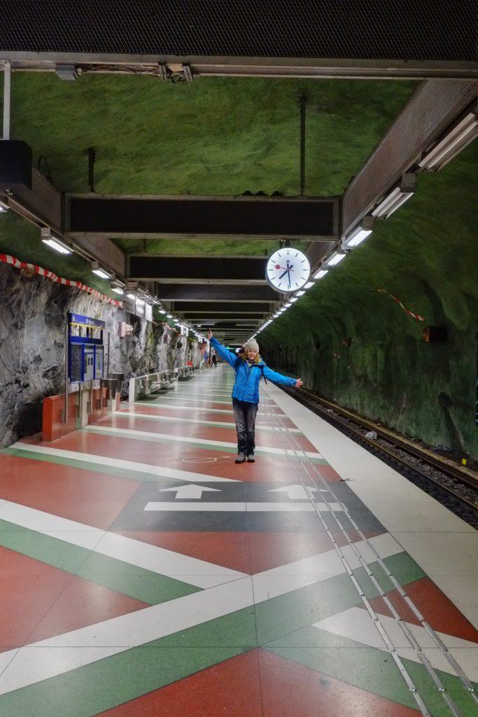 Station métro, Stockholm, Suède, Scandinavie
