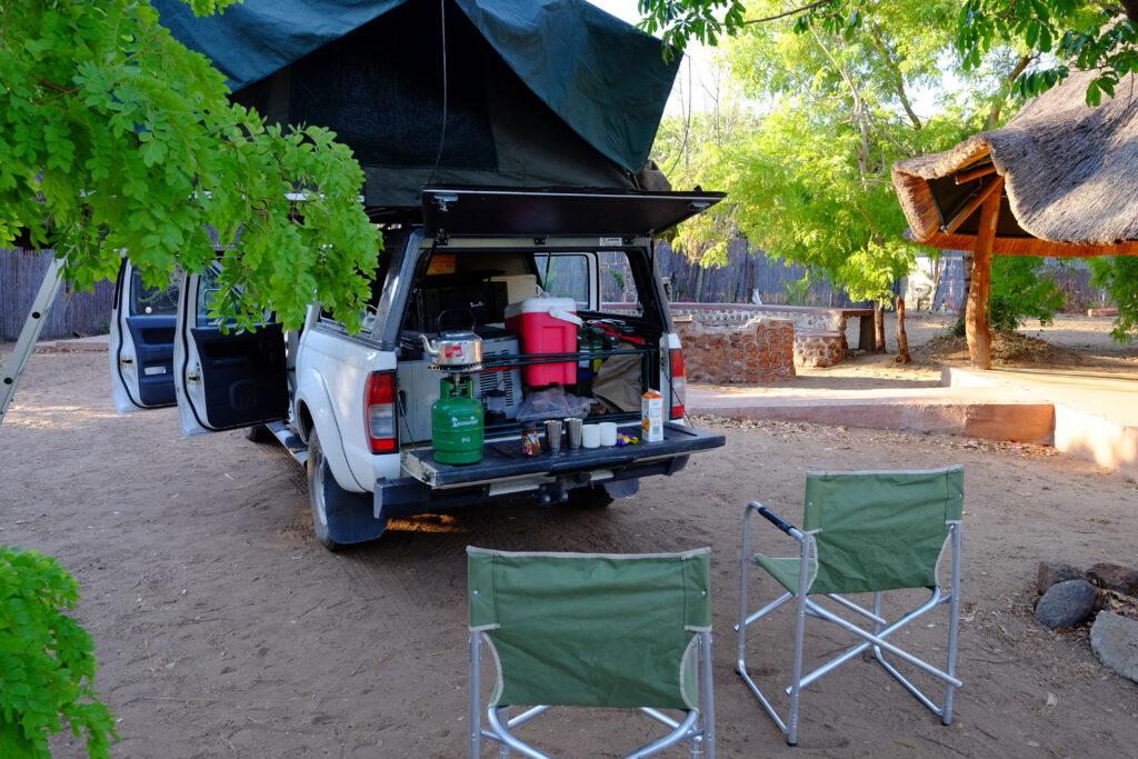 Camping au Botswana