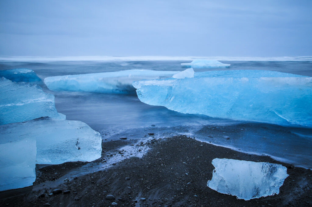Icebergs de Jokulsarlon, Islande